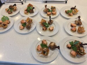 Simple plate of canapes